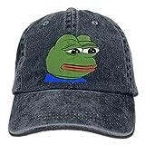 Pepe The Frog Logo Adult Cowboy Hat Baseball Cap Adjustable Athletic Customized Best Hat for Men and Women,Snapback Hats Women Men Adjustable Baseball Cap Hats