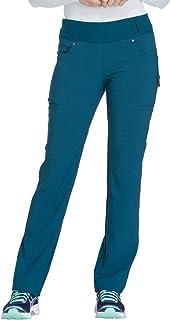 CHEROKEE Women`s Iflex Mid Rise Straight Leg Pull-on Pant