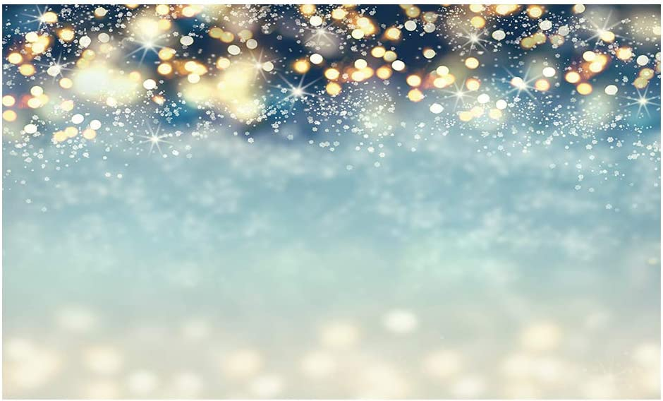 Funnytree 10x8FT Durable Fabric Soft Winter Bokeh Photography Backdrop Merry Christmas Glitter Photo Background Snowflack Party Decoration Supplies