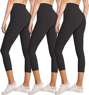 3 Pack Capri Leggings for Women Butt Lift-High Waisted...