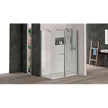Alpenberger - Cabina de ducha de esquina 120 x 90 x 185 cm ...