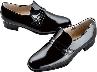 フォーマルシューズプレーントゥ エナメルブラック タキシード用靴 FS-01