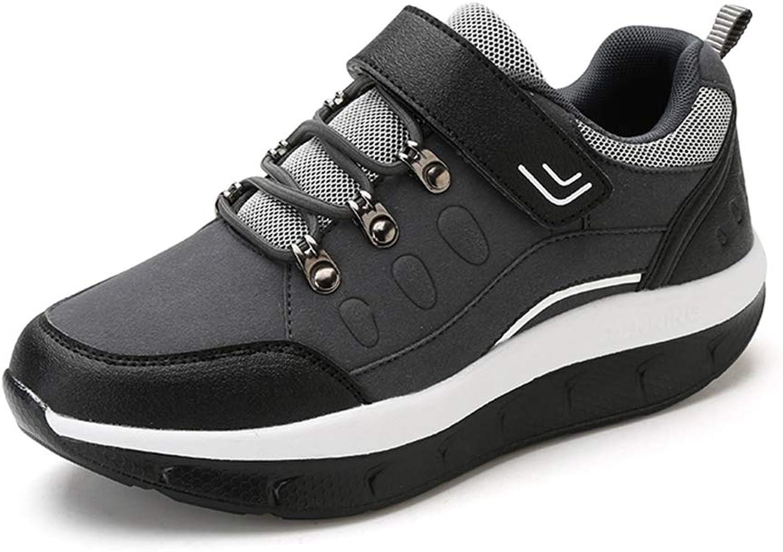 Women's Mesh Breathable Hook & Loop Platform Wedges Walking shoes Female Fashion Casual Sneakers