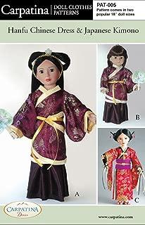 Pattern for Hanfu & Kimono - fits 18