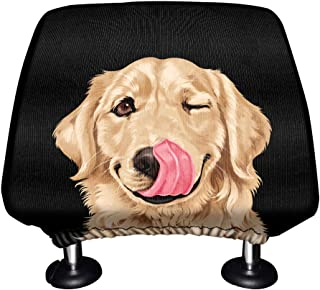 WIRESTER Car Seat Head Rest Cover, Protective Fabric Design Cover Decoration for All Cars - Cute Animal