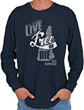 Brisco Brands Live Free Or Die New Hampshire NH State Map Long Sleeve T Shirt