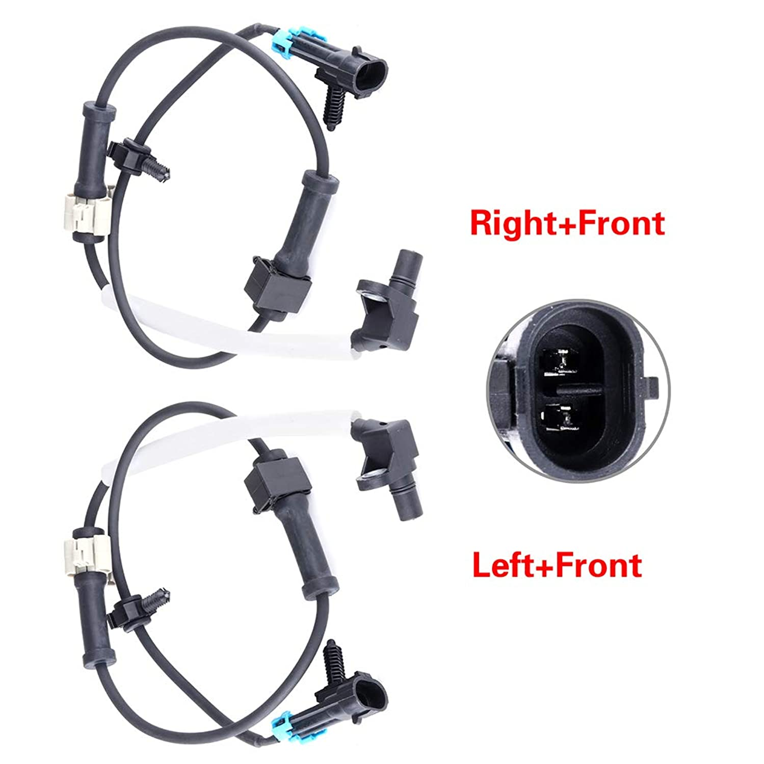 TUPARTS 2 x Left Right Front ALS483 ABS Wheel Speed sensors fit for Chevy Avalanche 2500/Silverado 1500/2500/3500/Suburban 2500, GMC Sierra 1500/2500/3500/Yukon XL 2500,Hummer H2