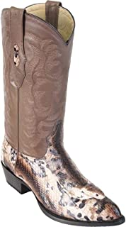 Men's Los Altos Genuine Cobra with Head J Toe Natural Boots Handmade