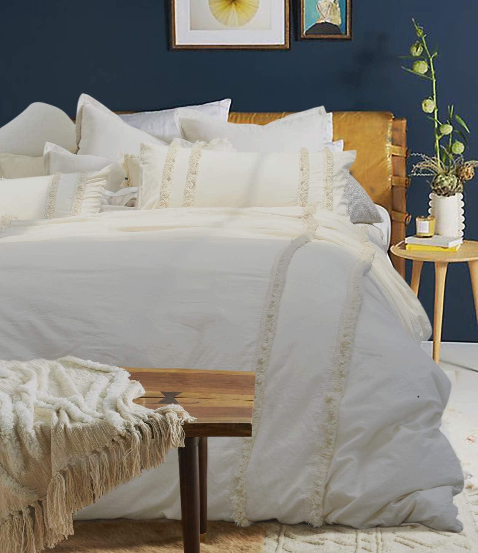 Flber outlet Tassel Duvet Cover Queen Boho Bedding Cotton Bedspreads Comforter Quilt Cover