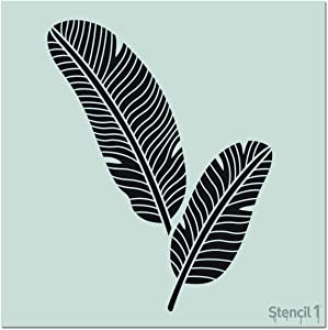 Stencil1 Banana Leaves Stencil Reusable Premium Quality Mylar Stencils for Painting Walls, Fabric, Furniture, Crafts, Decor - Allover Wallpaper Effects - 11