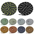 "Amerlery Round Shoe Laces Athletic Shoelaces for Sneakers,Boots,Work Boots and Hiking Shoes,Fit Men and Women (47""(120cm), 10Colors(B))"