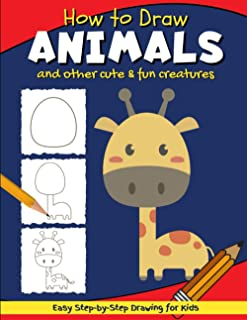 How to Draw Animals: Simple & Easy Step-by-Step Line Drawing for Kids | Giraffe