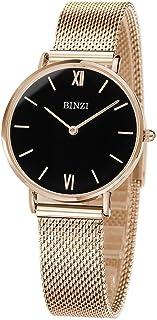 BINZI Women Watches Minimalist design Luxury Brand Quartz Watch Women Gold Silver Stainless Steel Watch Ladies Fashion Wristwatch