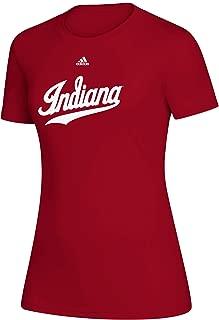 adidas NCAA Indiana Hoosiers Women's Creator Short Sleeve Tee, Red, Small