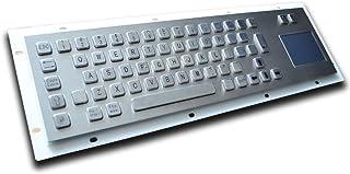 Metal Keyboard with Track pad - 64 keys - US Layout - USB - IP65 -For Kiosks