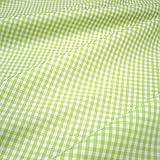 Stoff am Stück Stoff Baumwolle Vichy Karo hellgrün weiß