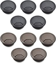 TOUHIA 10 Pcs 2-Inch Insert Diameter Desk Hole Cover for Cord Management