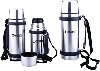 Dessini stainless steel flask set 1.5 ltr 1 ltr and 500 ml