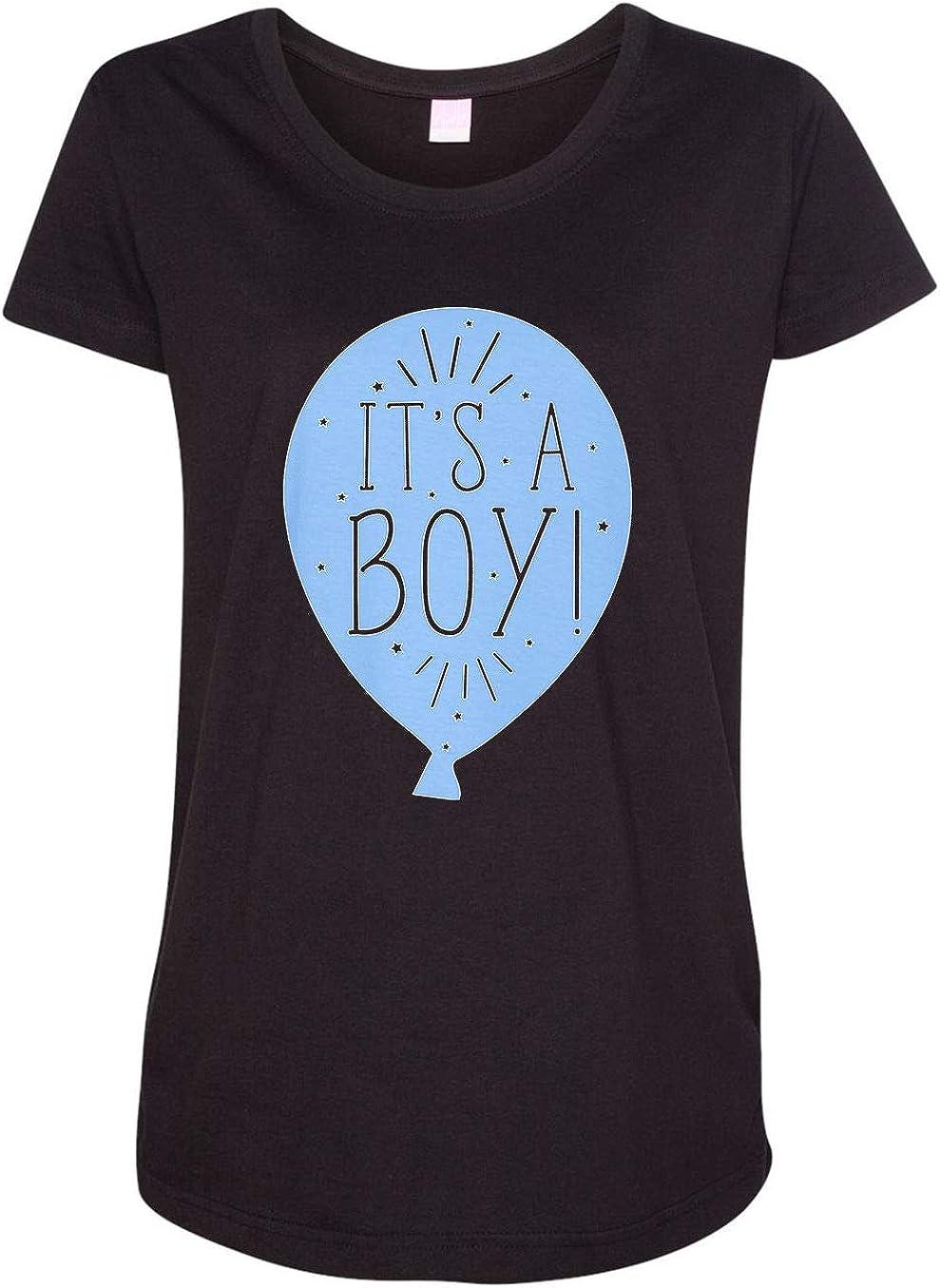 HARD EDGE DESIGN Women's It's a Boy Balloon T-Shirt