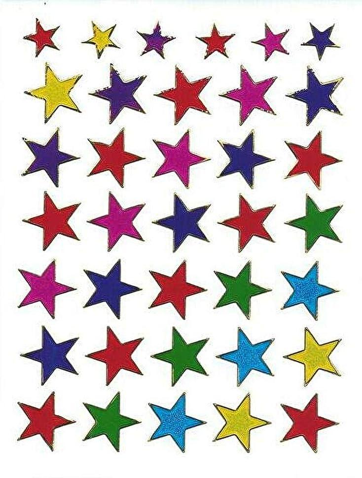 繁栄無力遷移(シャシャン)XIAXIN 防水 ラメ PVC製 スター 星 ステッカー セット 耐候 耐水 STAR キャラクター ごほうび スーツケース ネームプレート 目印 ロッカー 屋内外 兼用 TSS-602 (ミックス)