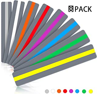 Dyslexia Tools for Kids, Warmtaste Reading Guide Strips Highlight Strips Colored Overlay Highlighter Bookmarks Tracking Rulers Helps with Reduce Visual Stress Children Assistant(8PCS)