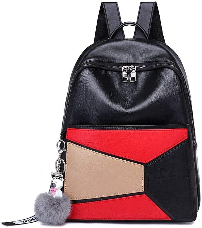 Nvfshreu Handtasche Schne Cartoon Katzen Design Rucksack Frauen Koreanische Beilufige Leinwand Einfacher Stil Rucksack Weibliche Candy Farbe Reise Rucksack, (Farbe   Colour, Größe   One Größe)