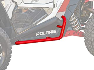 SuperATV Heavy Duty Nerf Bars/Rock Sliders/Tree Kickers for Polaris General 1000 (2016+) - Red
