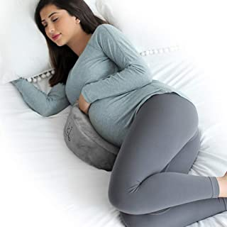 eklo MommyWedge Pregnancy Wedge Pillow - Memory Foam Maternity Support for Back, Belly, Knees - Includes Soft Velvet Cover