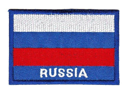 Aufnäher Bügelbild Aufbügler Iron on Patches Applikation Flagge Russland Russia