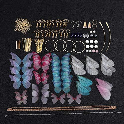 BELTI Dije de ala de libélula Pendiente de ala de Mariposas Cigarra Fabricación de Joyas de Bricolaje