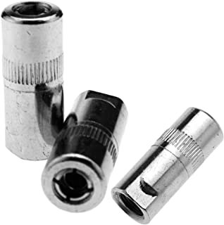 New 3 Pieces 1/8 BSP 4 Jaw Hydraulic Nipple Grease Gun End Connector 14.5mm