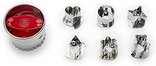 Fox Run 3605, 2.5 x 2.5 x 1.75 inches, Linzer Cookie Cutter Set, Stainless Steel, 6-Piece