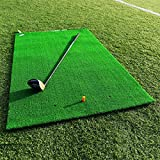 FORB Academy Golf Practice Mat [5ft x 3.2ft] | Professional Hitting Golf Mat | Large Golf 13mm Artificial Grass Practice Mat | Golf Training Aids – 3 Tees Included