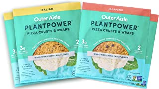 Sponsored Ad - Outer Aisle Gourmet Cauliflower Pizza Crusts | Keto, Gluten Free, Low Carb Cauliflower Pizza Crusts | 4 Pac...