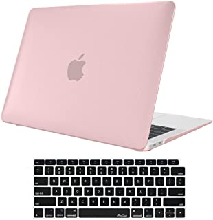 MacBook Air 13 Inch Case 2018 Release, ProCase Rubber Coated Hard Shell Case for MacBook Air 13-inch Model A1932 with Keyboard Skin Cover –Clear Pink
