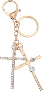 Giftale Cross Keychain for Women Cute Bag Charms Crystal Rhinestone Pendant Car Key Ring