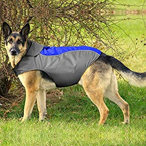 BSEEN Dog Raincoats Adjustable Lightweight Waterpoof Dog Rain Jacket with Reflective Strip Gear & Harness Hole for Small Medium Large Dogs