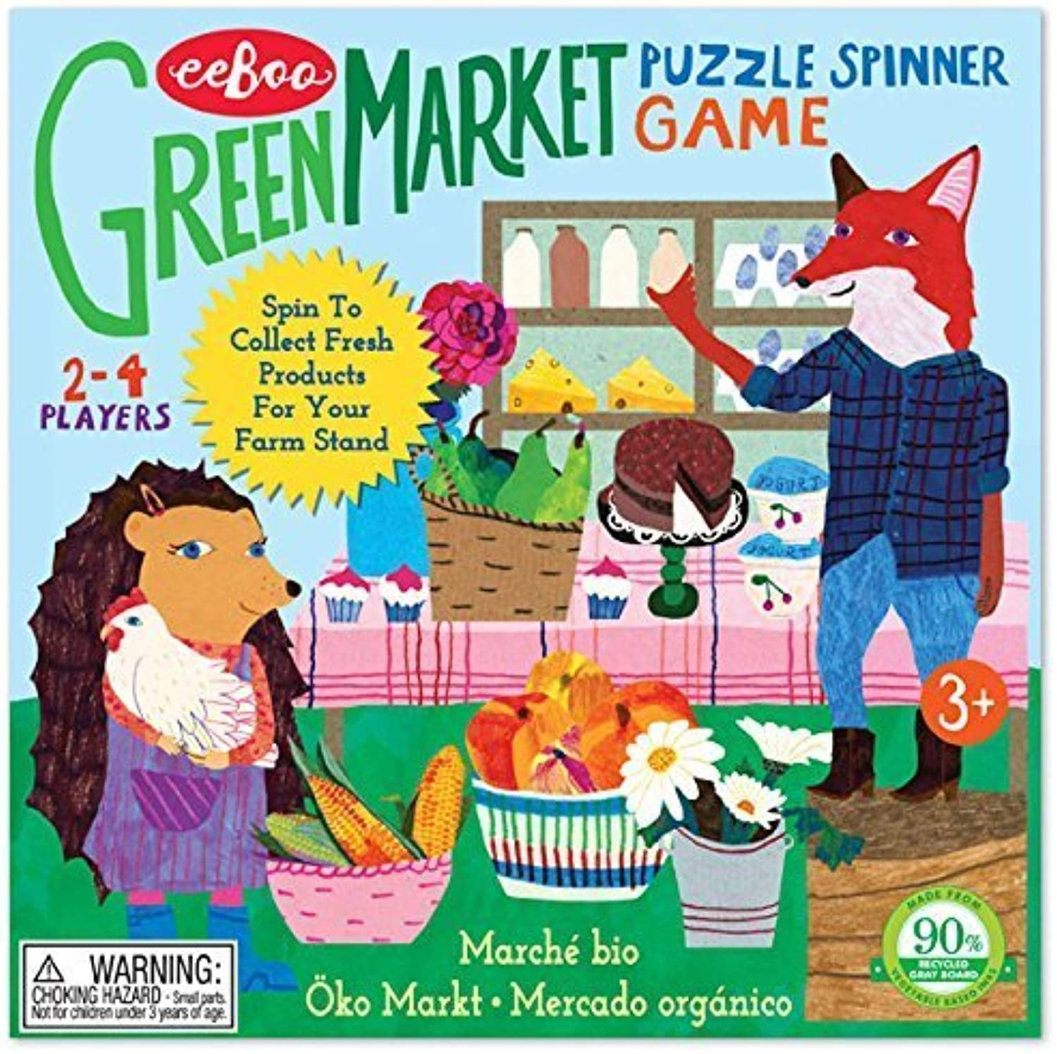 Green Market Puzzle Spinner Game by eeBoo