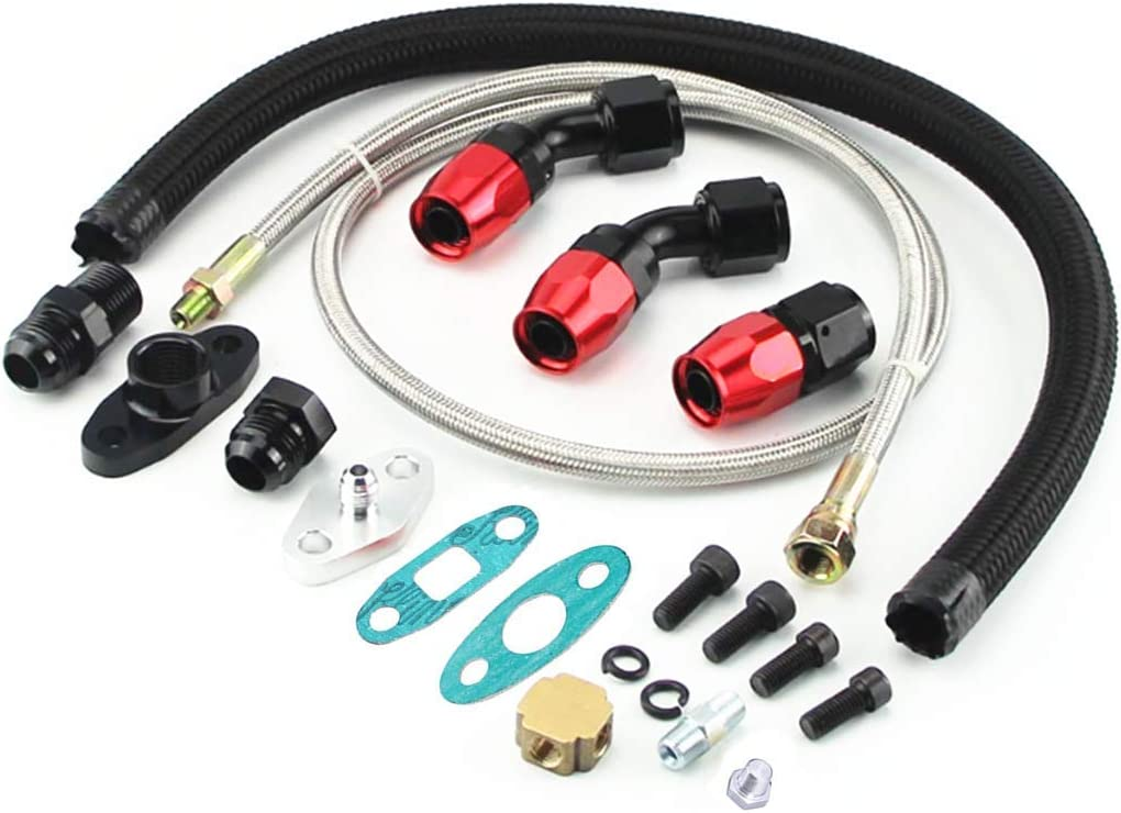 Limited Special Price Templehorse Turbo Oil Drain Return Milwaukee Mall Line T4 Feed T3 T04E Kit