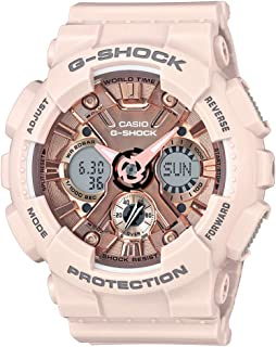 Casio G-Shock S-Series Analog-Digital Rose Gold Round Women's Watch - GMA-S120MF-4ADR