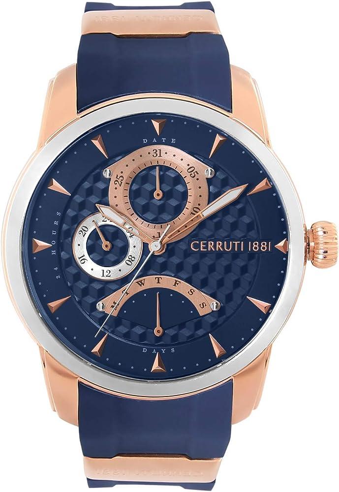 Cerruti 1881,orologio per uomo,in acciaio inossidabile e cinturino in silicone CRA21607
