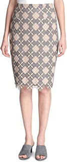 Calvin Klein Lace Pencil Skirt Grey 16