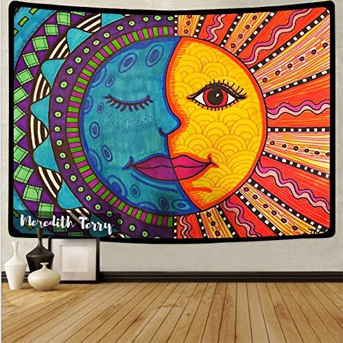 Tapiz de seta de calavera colorida de dibujos animados tapiz de arte de calavera mágica sala de estar decoración del hogar tela de fondo A7 150x200cm