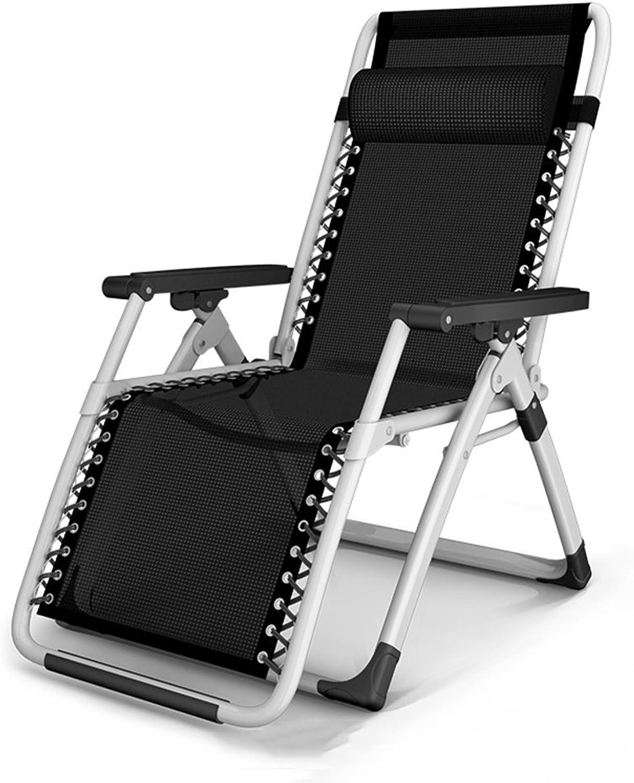 HAMIMI Klappstuhl Sommer Mittagspause Lounge Büro Portable Strand Stuhl Lounge Stuhl Schwangere Frau Stuhl Siesta Stuhl Klappstuhl (Farbe   A)