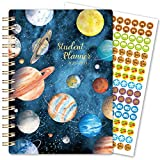 Student Planner 2020-2021 - Planner Student for Academic Year 2020-2021, Jul 2020 - Jun 2021, 5.8' x 8.6', Planet Weekly & Monthly Organizing Planner with Cute Ruler, Inner Pocket & Useful Stickers