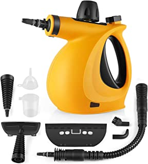 KoolaMo Handheld Presurized Cleaner 9-Piece Accessory Set Purpose Multi-Surface All Natural, Cleaning Home, Auto, Patio, 1, Orange