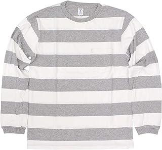 [ベルバシーン] 161738W ワイドボーダー 長袖Tシャツ アメリカ製