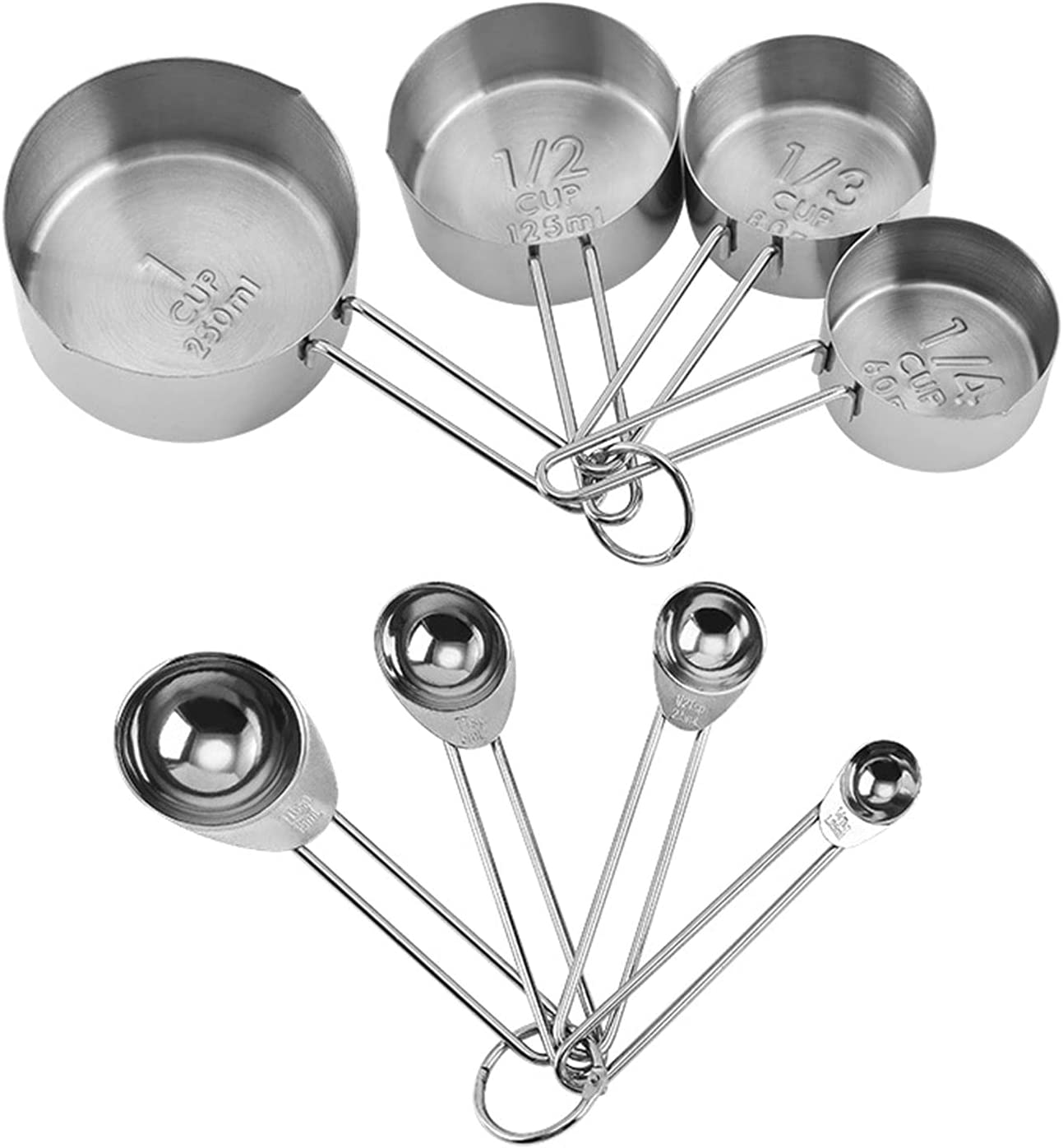 High quality new GQFGYYL Stainless Steel 4pcs Measuring and with Cups Rapid rise Spoons