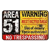 cadora rótulo magnético Frigorífico magnético Vintage Retro Area 51No TRESPASSING Warning UFO Alien