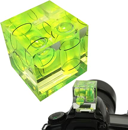 Zapato universal de 3 ejes con burbujas fijas en 3D, nivel de espiral, para cámara réflex digital Canon/Nikon/Pentax